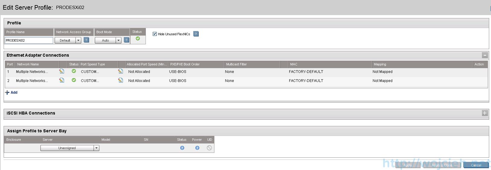 HP Virtual Connect Module Configuration - Server Profiles 8