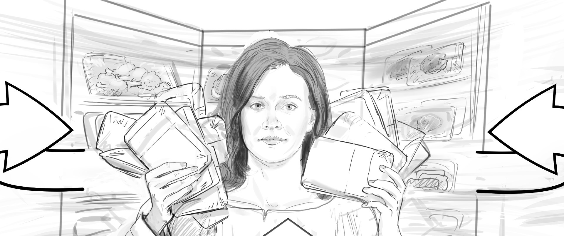 Lidl Vis TV Commercial storyboard 01