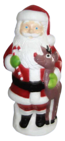 Big Santa Claus With Deer photo