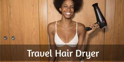 This travel hair dryer is a good choice for those travelers who want to save space in their luggage but at the same time works internationally.