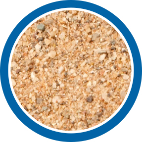 Regular sand sample