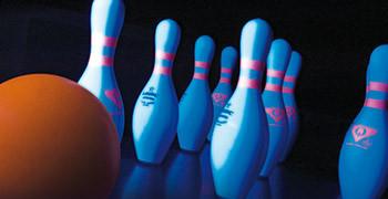 Ten pin bowling at Potters Resort