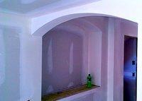 Drywall arch installation