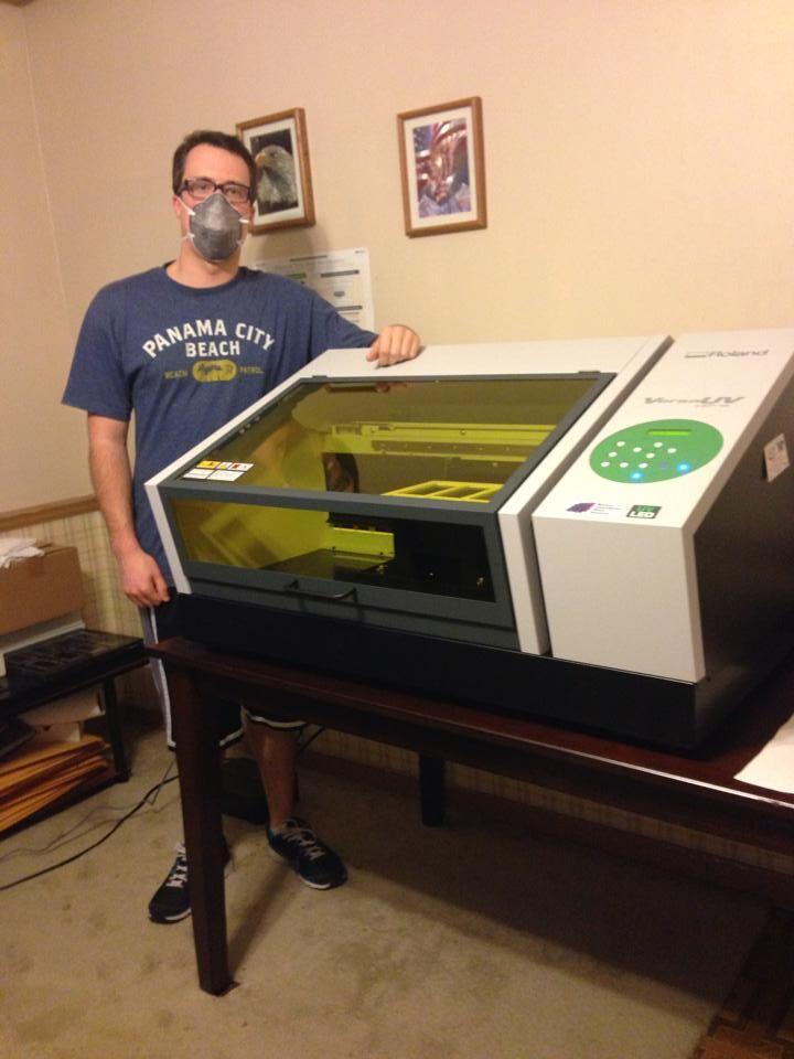 Robert with UV Printer