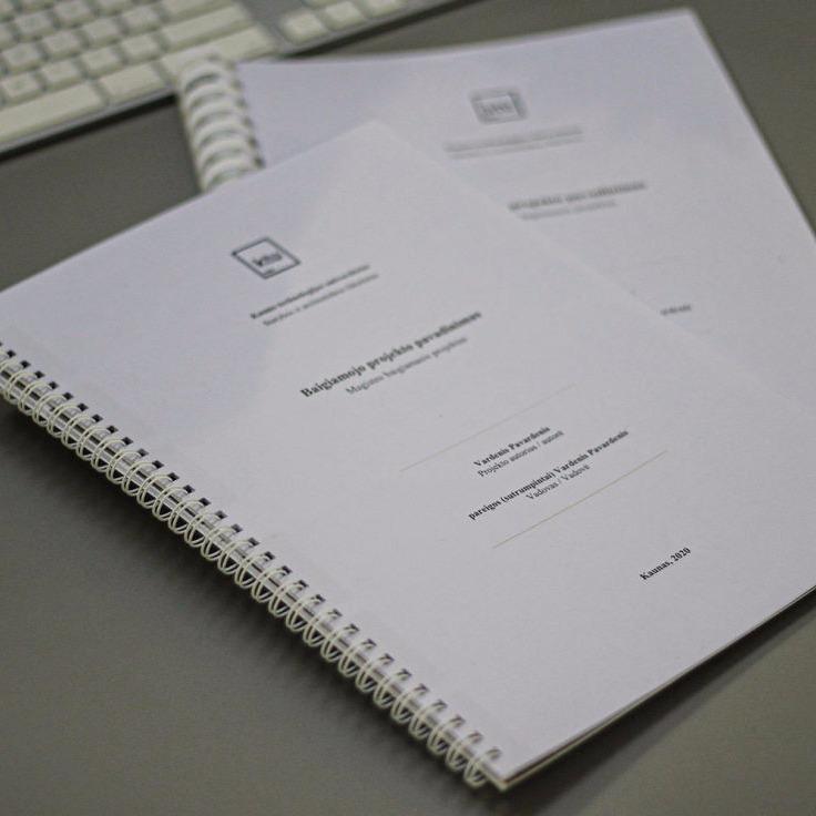 Baigiamųjų darbų spausdinimas ir įrišimas