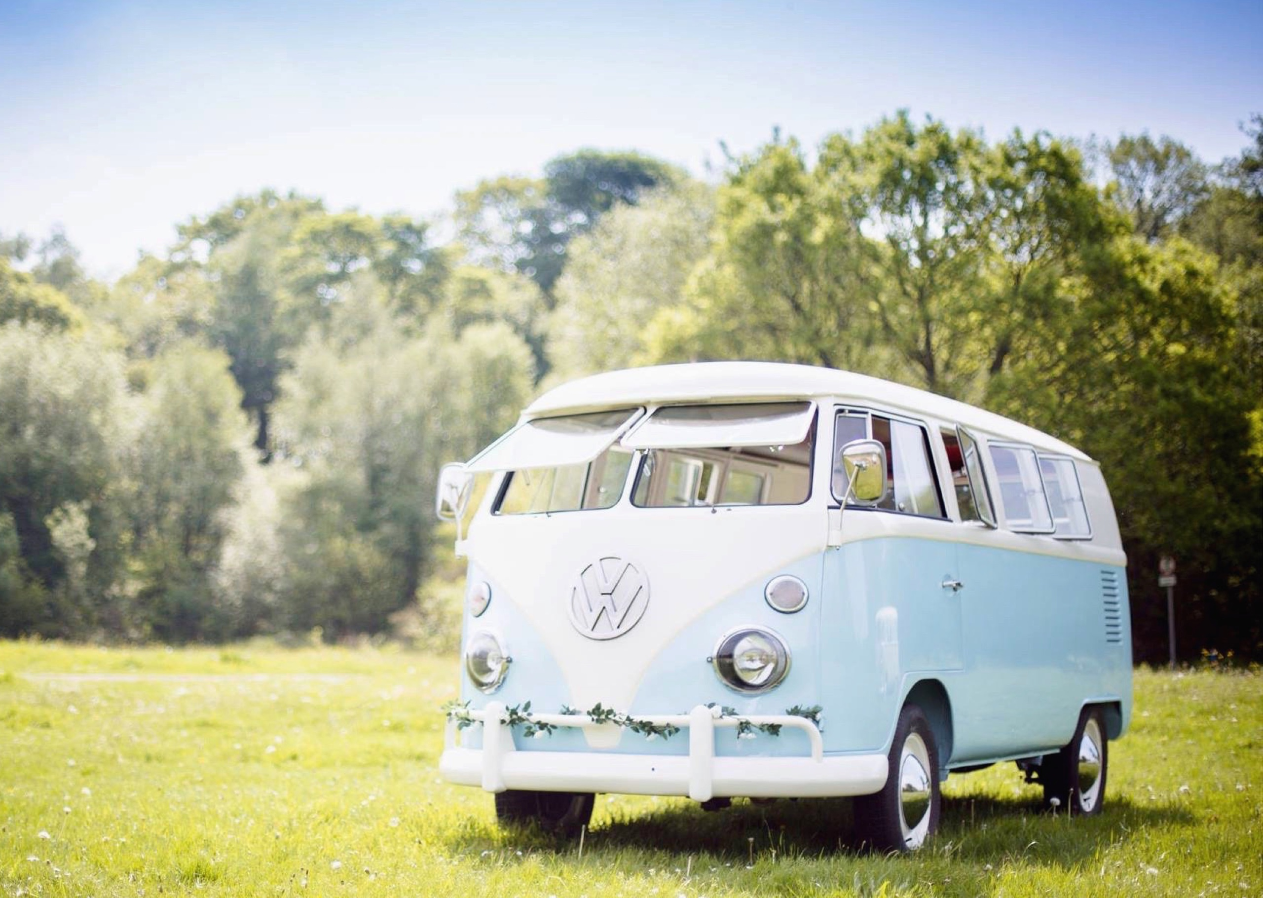 Tiffany, a classic VW split screen campervan, part of the Coach House Limousines team