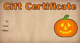 Gift Certificate Template Halloween 02
