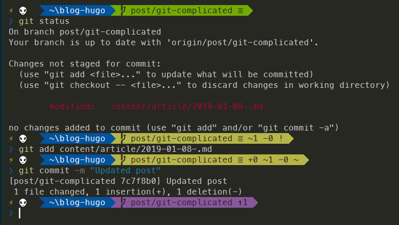 ConEmu with Git info