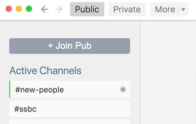 Join Pub button