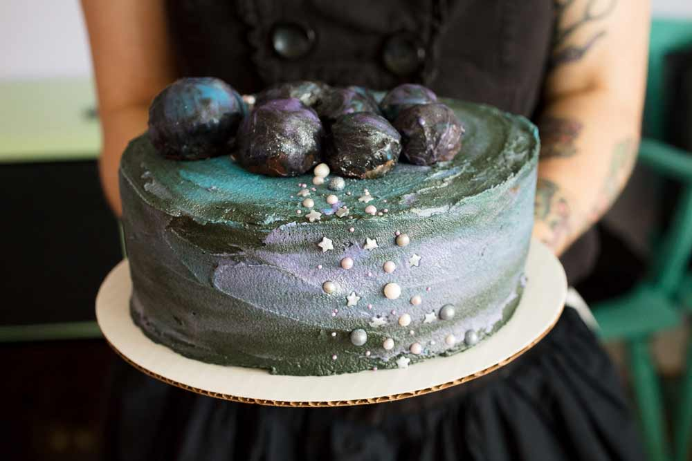 vegan galaxy cake