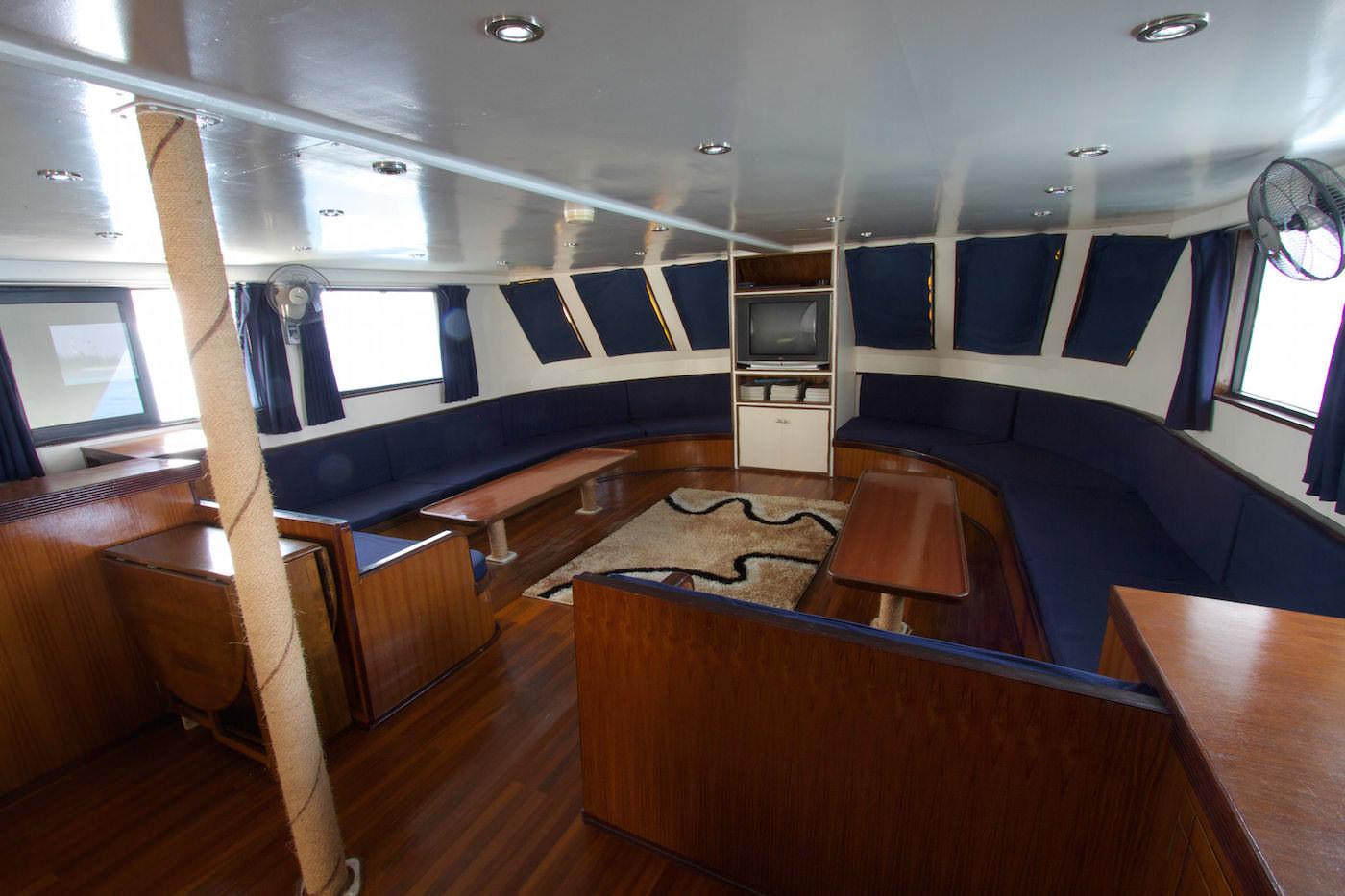 Blue Star Open Boat Surf Charter Maldives Lounge