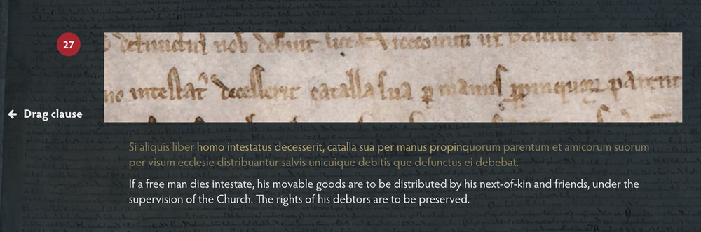 Screenshot of a clause