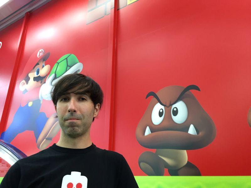 Mario escalator in Tokyo