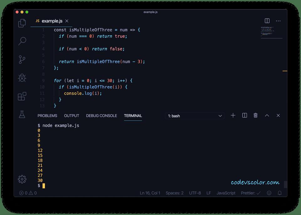 JavaScript check multiple three recursive