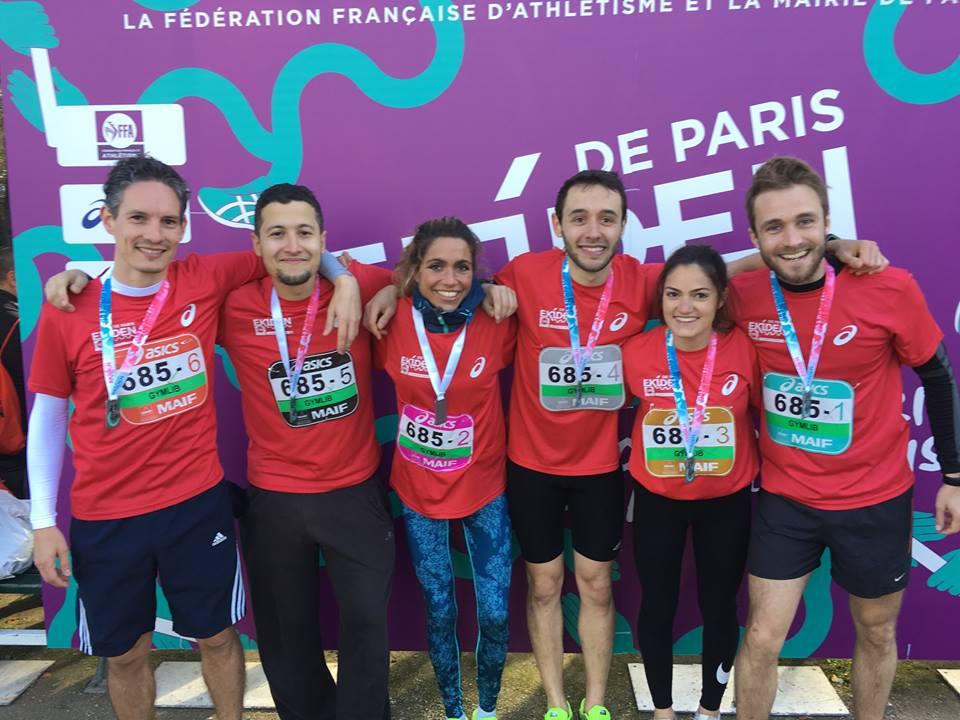 L'équipe Gymlib au semi-marathon de Paris