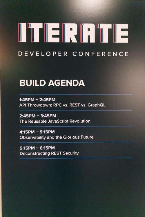 Iterate Build Agenda