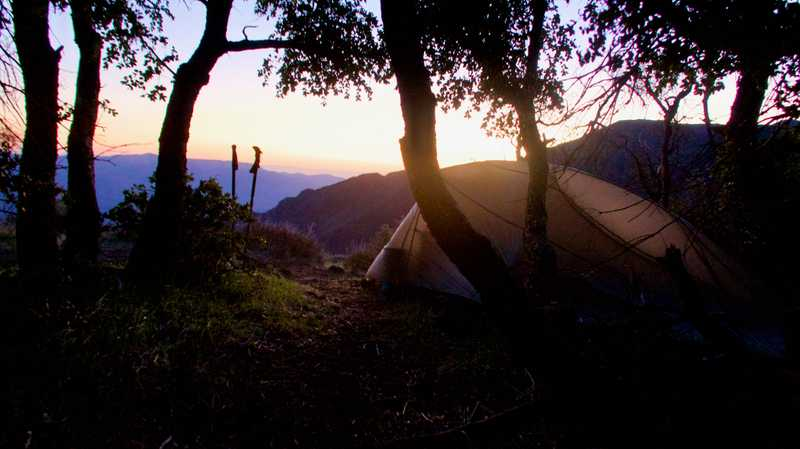Sunrise view from my tent