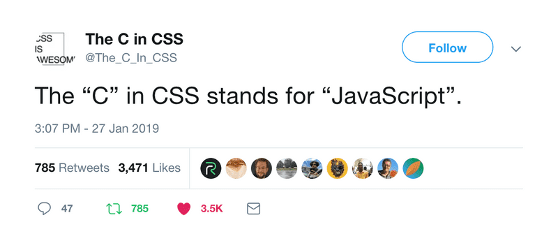 The C in CSS
