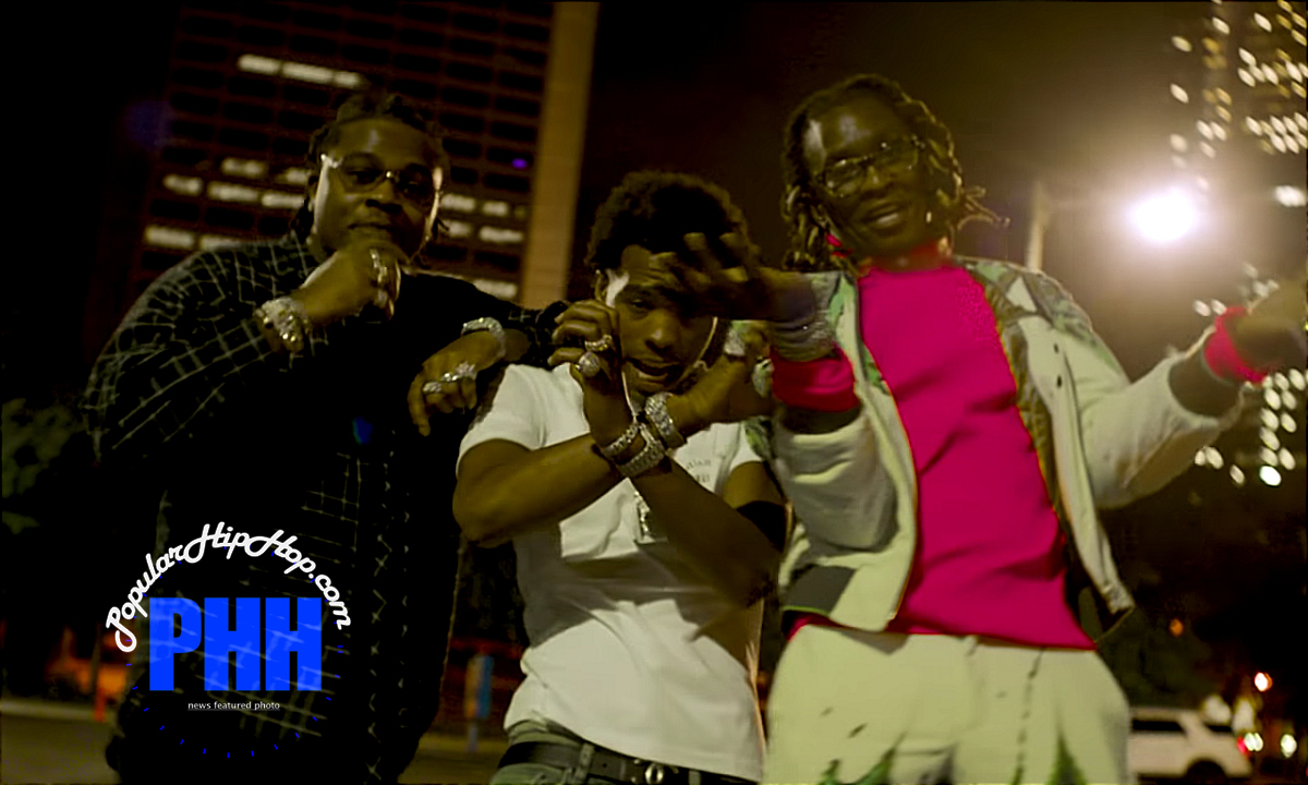 Gunna, Lil Baby, and Young Thug performing 'Chanel' in new music video [November 2018]