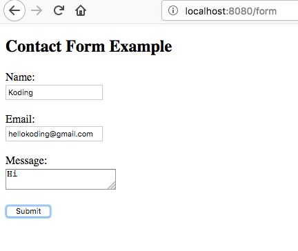 Spring Boot Form Concat