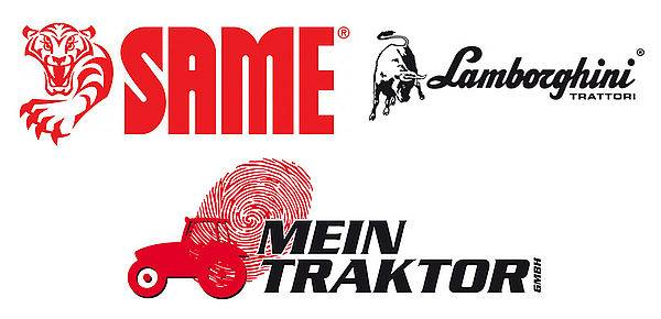 Logos of Same, Lamborghini and Mein Traktor GmbH