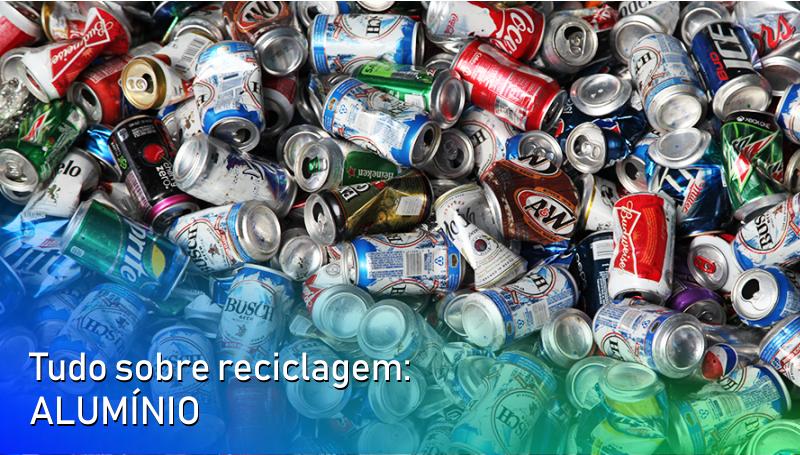 Imagem em destaque para o artigo: Tudo sobre reciclagem: alumínio