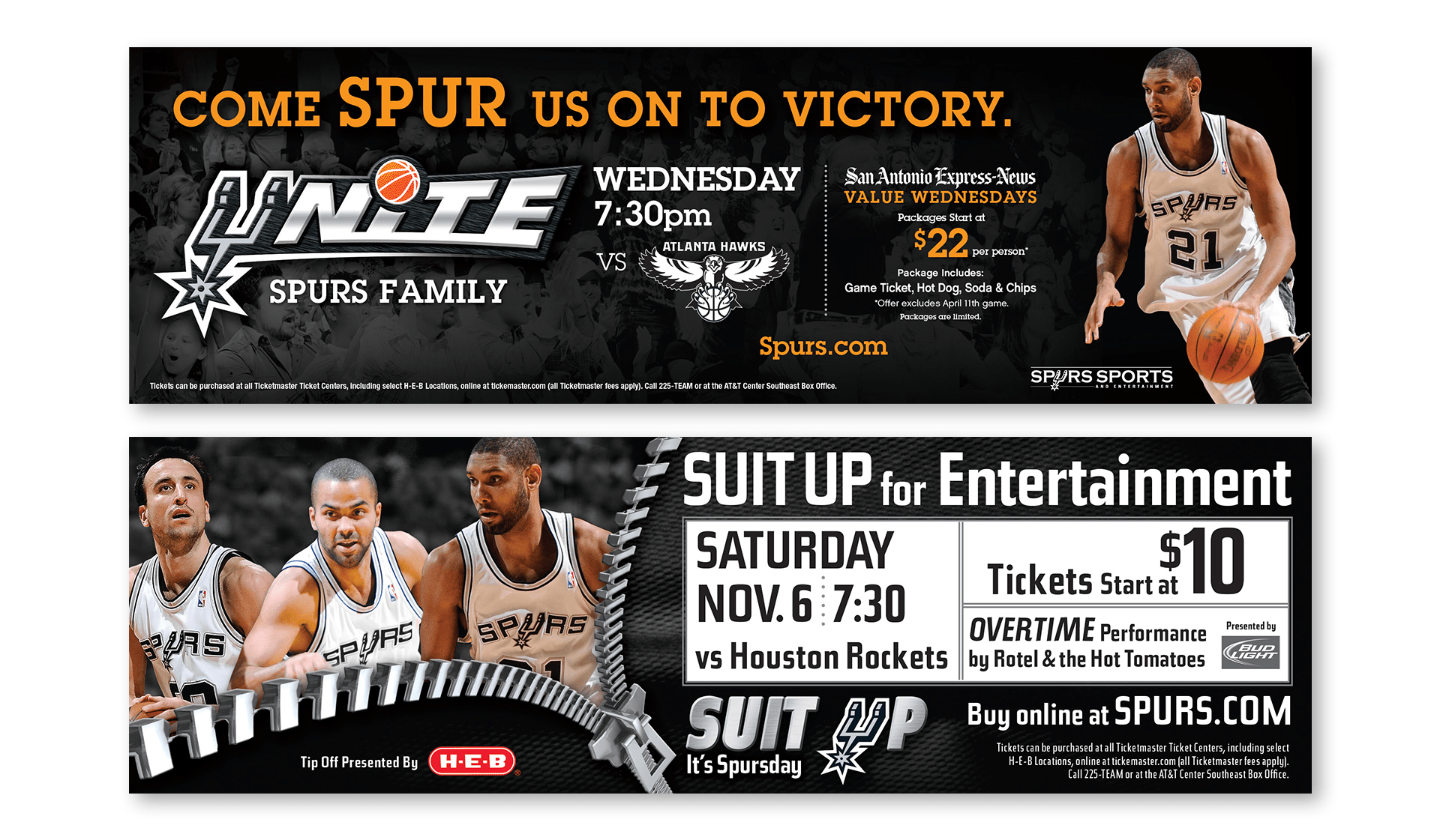 Spurs Print Ads
