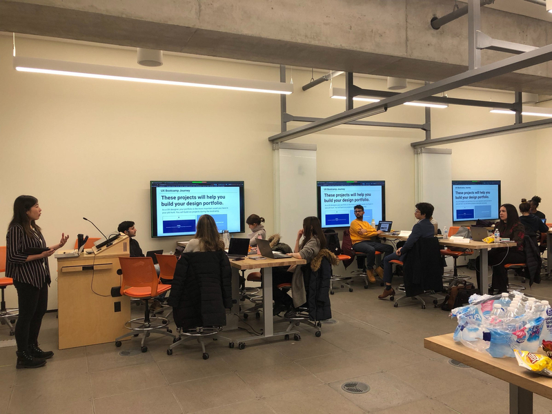 Students at a UX/UI boot camp at the University of Toronto