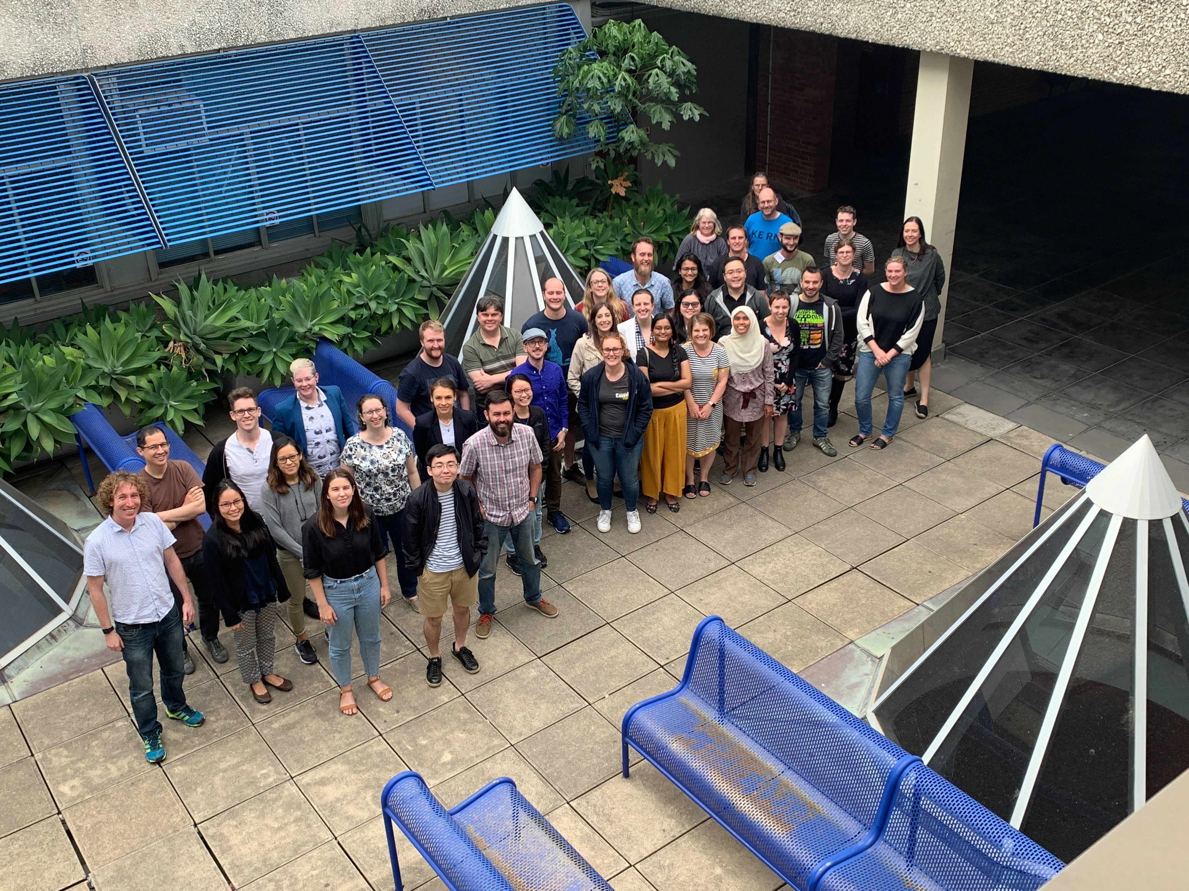 group photo of 40 participants at OzUnconf19