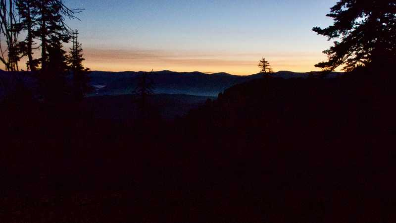Dawn in Plumas National Forest