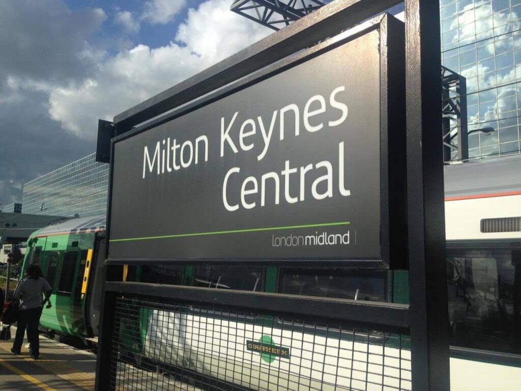 Milton Keynes Central Road Sign