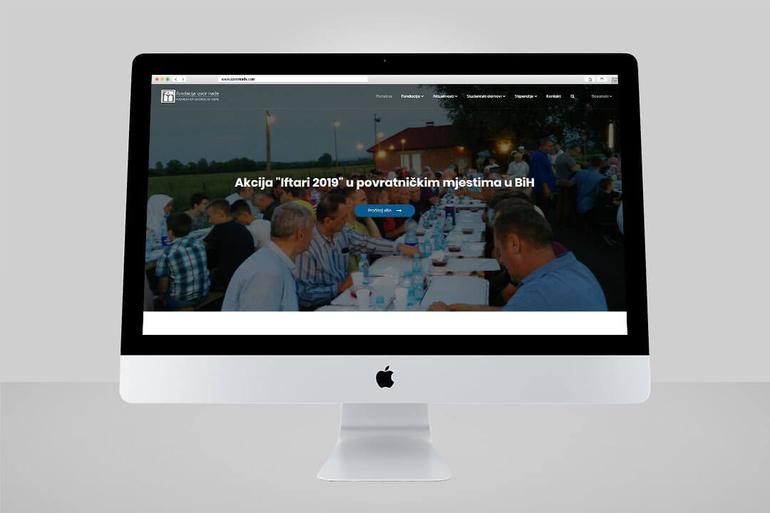 Project Izvor Nade, Website Design