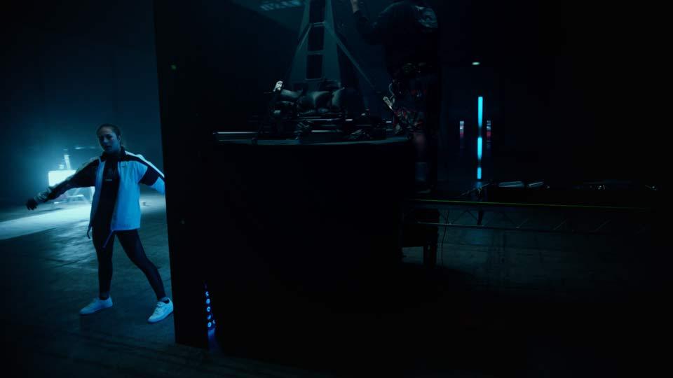 image of rotating camera rig on set