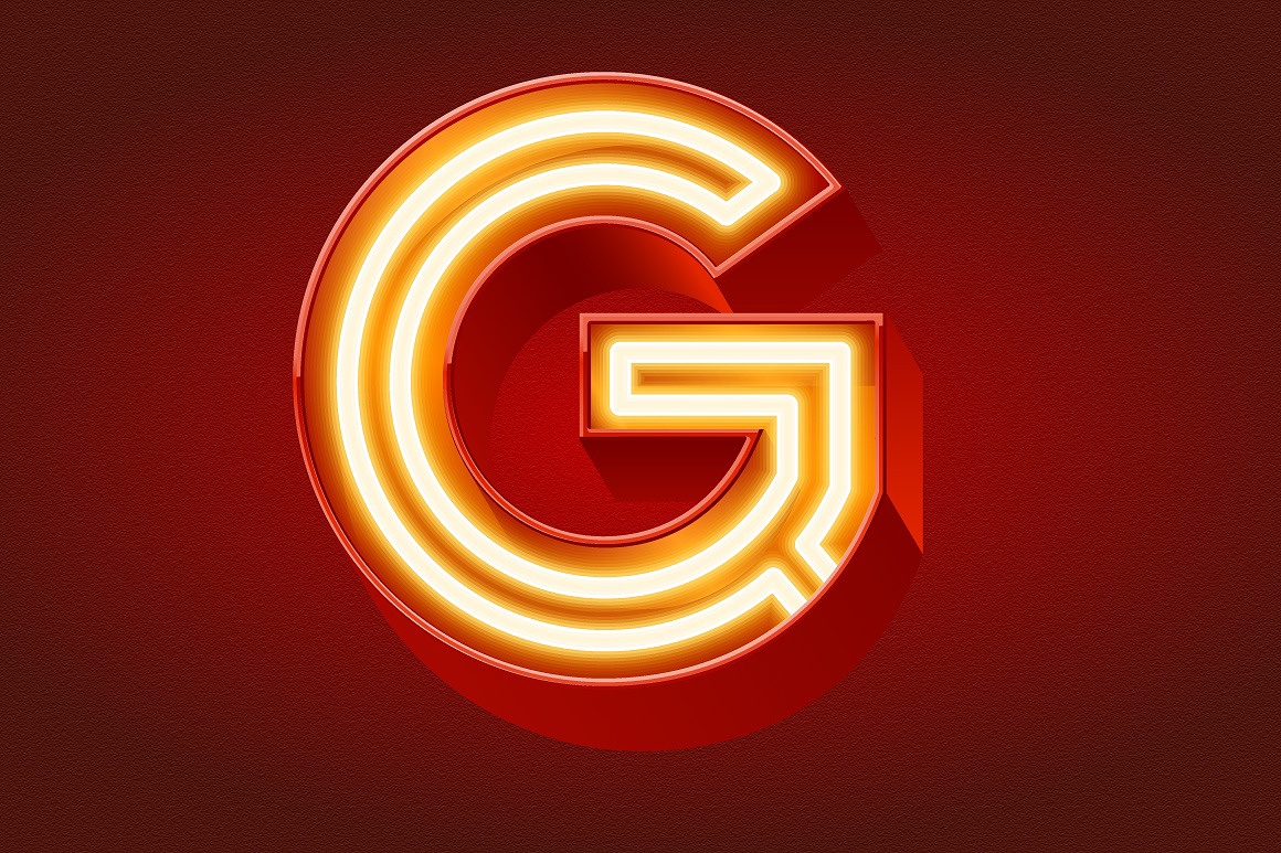 Realistic Neon Tubes Alphabet images/3D_lamp_bold_tubes_red_5.jpg