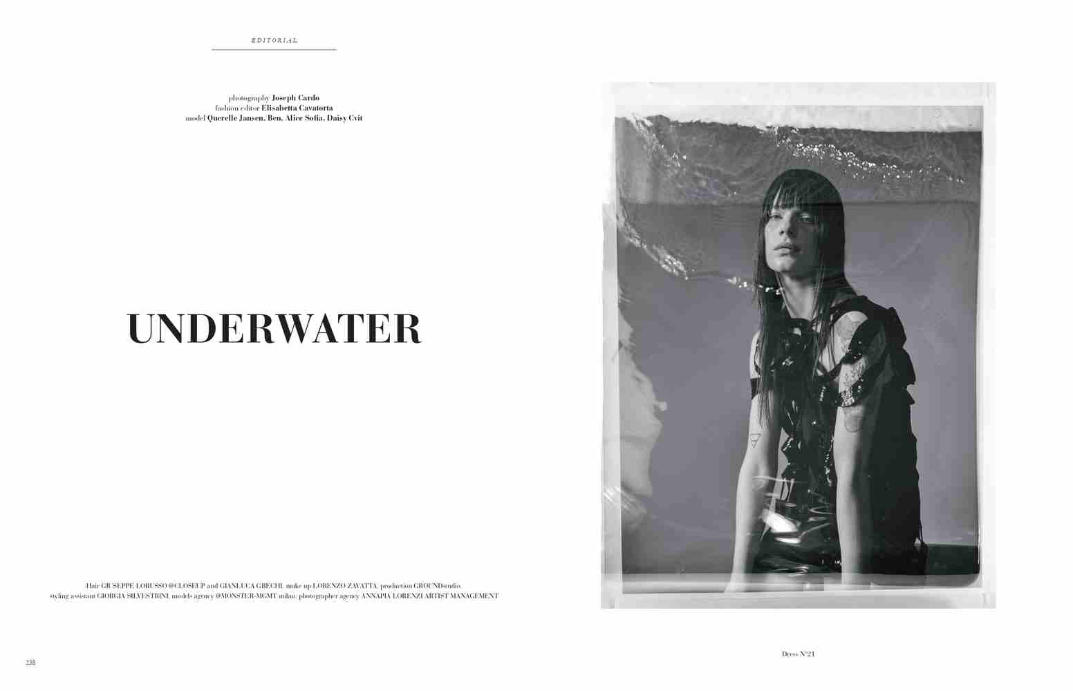 Elisabetta Cavatorta Stylist - Under Water - Joseph Cardo - Mia Le Journal