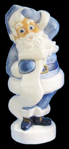 Victorian Blue Large Santa photo