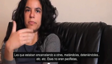 Figure 3: Replacement of masculine o and feminine a with x in Spanish subtitles of a Words of Women film