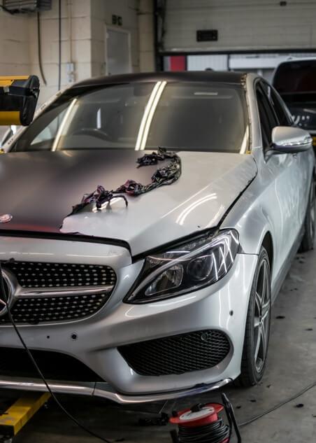 Mercedes-Benz C Class Wrap Removal,Detailing