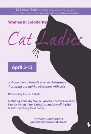 Postcard for Women In Solodarity: Cat Ladies.