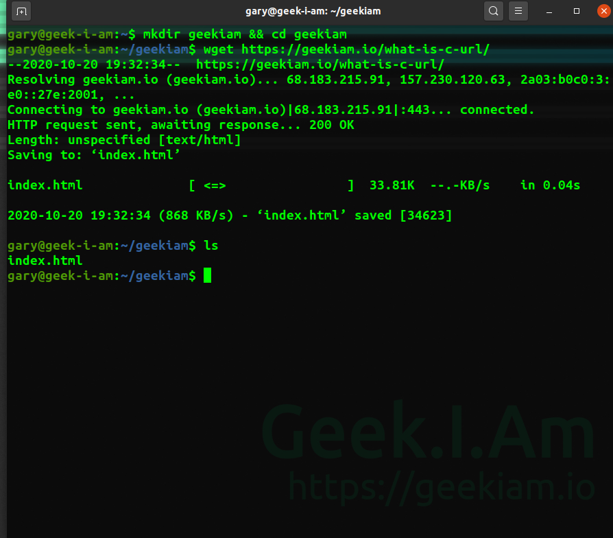 wget download file
