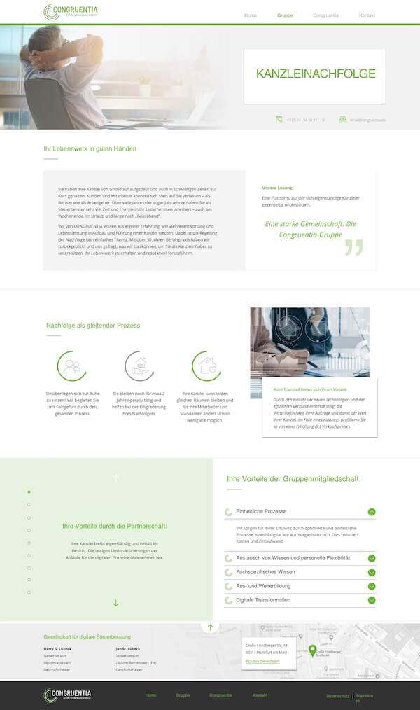 This images shows the page explaining the services they offer for retirement plans