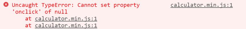 Screenshot of Uncought TypeError: can not set property