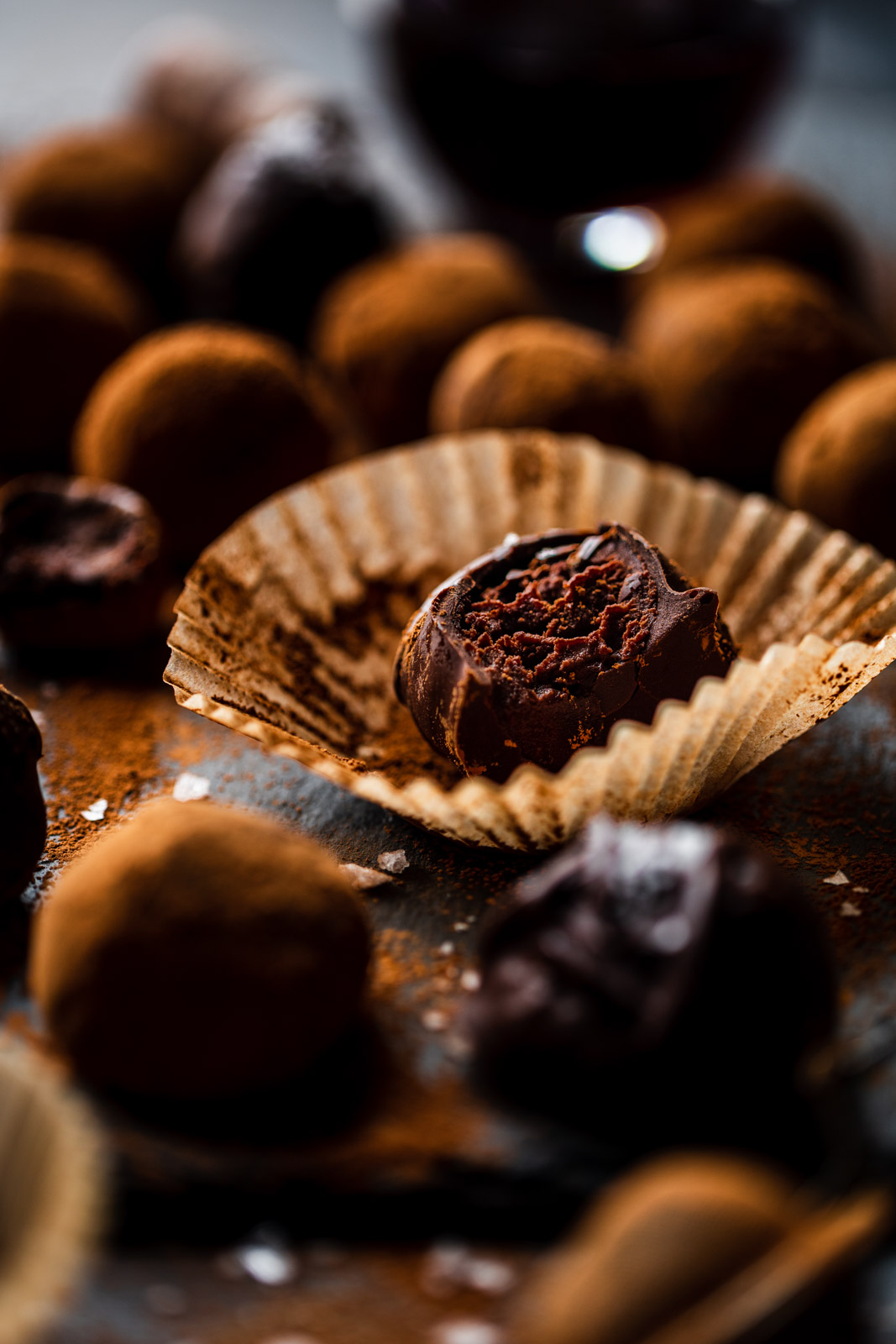 Dark Chocolate Wine Truffles