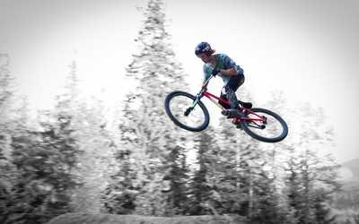 Bike in the air