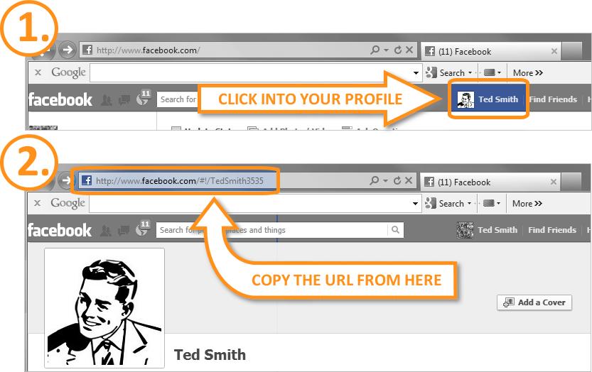 Email Signature - Get Facebook URL