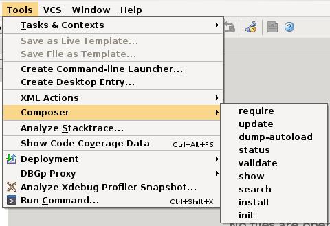 phpstorm-tools-composer