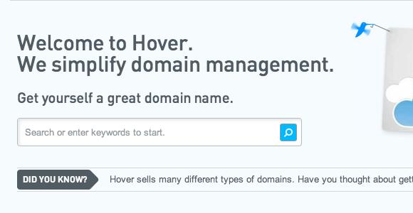 hover domain management
