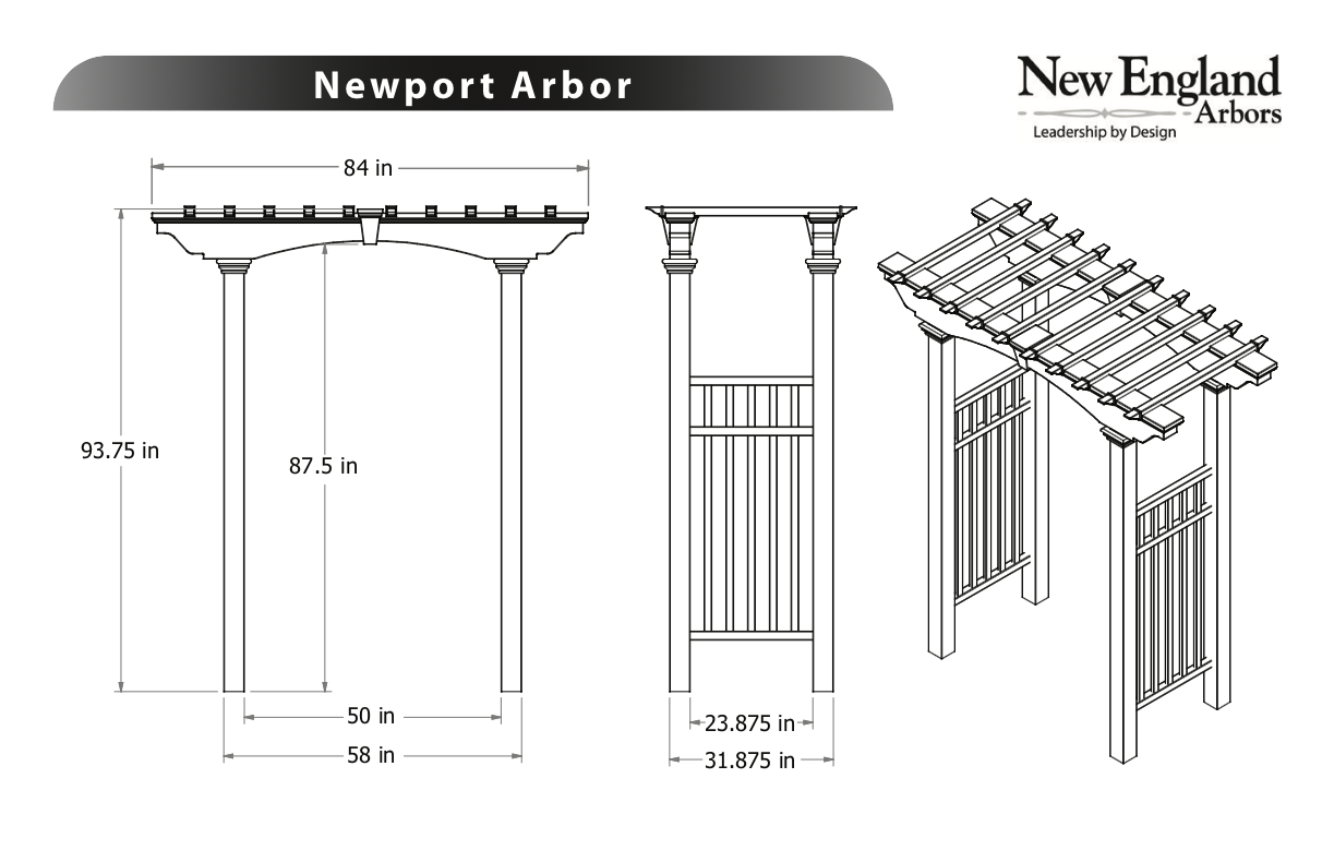 Newport Arbor Specifications
