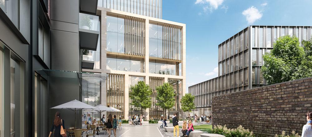 Westridge Real Estate Camden Yard CGI for new Kevin Street DIT development in Dublin