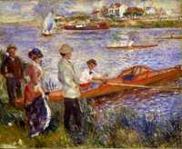 Renoir's Boating at Chatou, produced in 1879, during his most important decade of work.